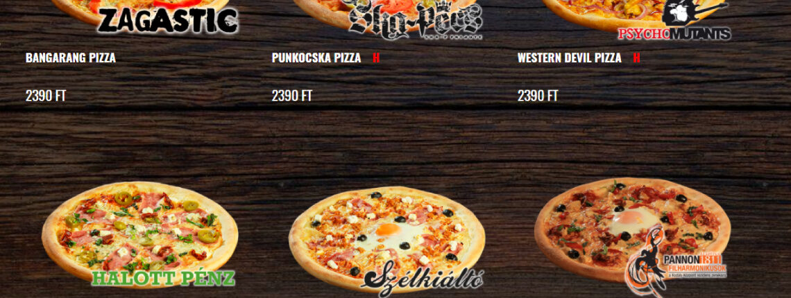 Pizza, amit pécsi zenekarok ihlettek