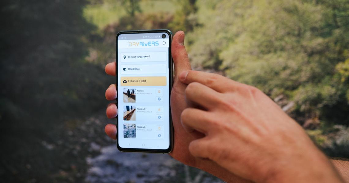 Mobillal az eltűnő víz nyomában – Elindult a DRYRivERS okostelefon-alkalmazás