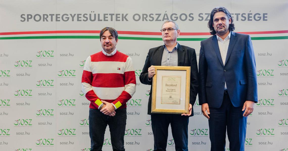 Elismerésben részesült a Pécsi Sportiskola